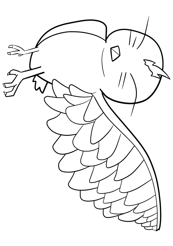 Bird Free coloring page for kids